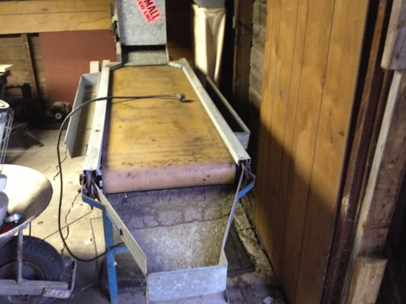 Blueberry Blower Cleaner / Inspection Table